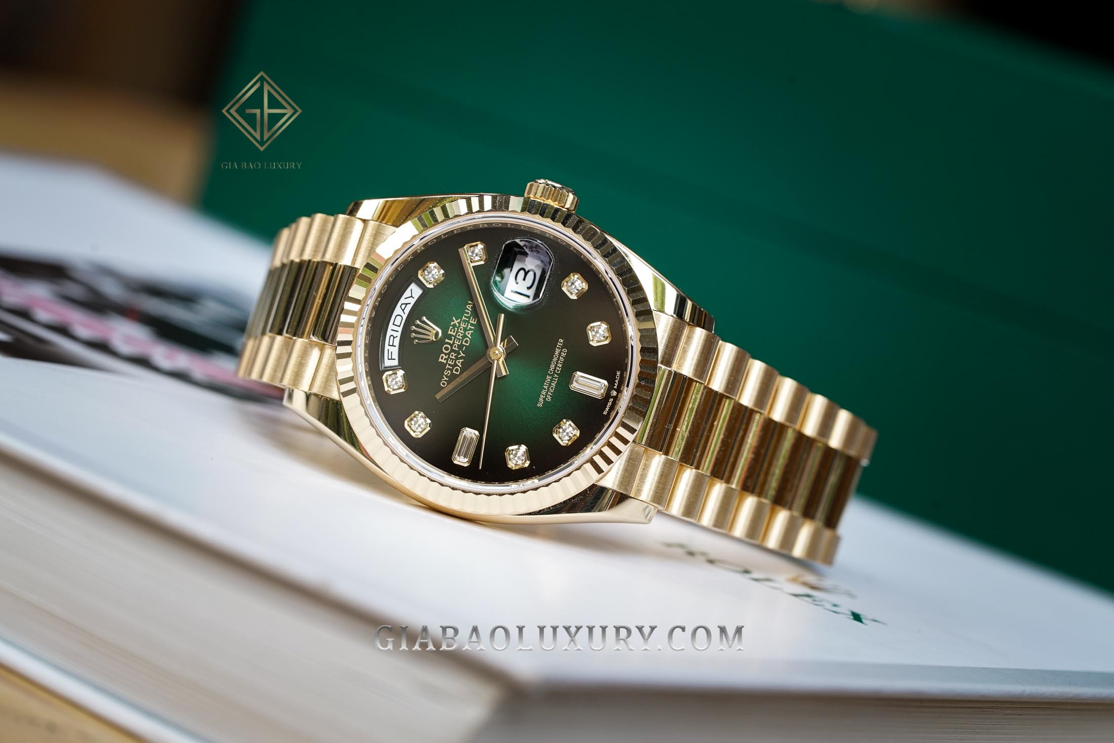 Review đồng hồ Rolex Day-Date 128238 ombré mới 2019 tại Việt Nam