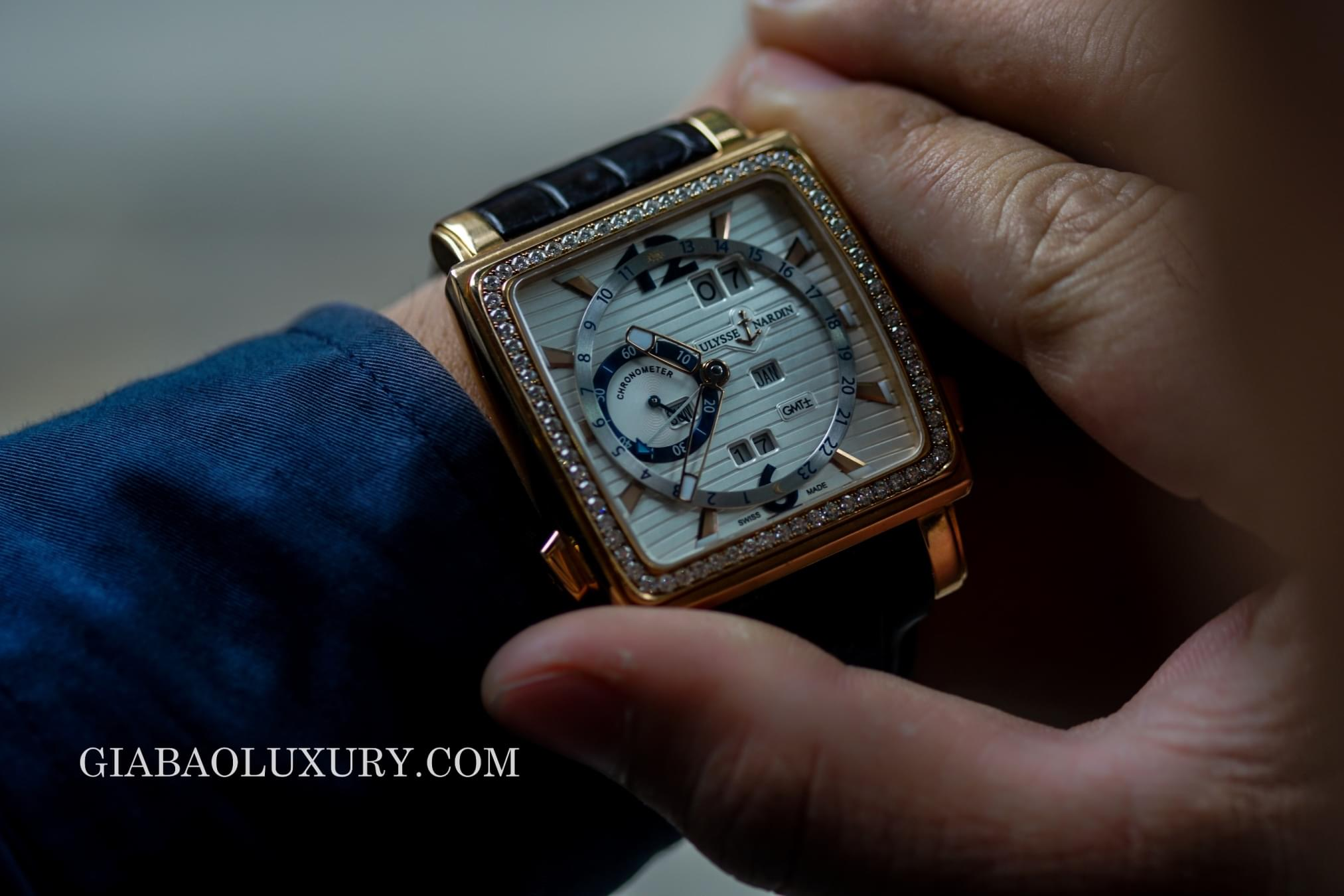 Review đồng hồ Ulysse Nardin Quadrato Dual Time Perpetual 2013
