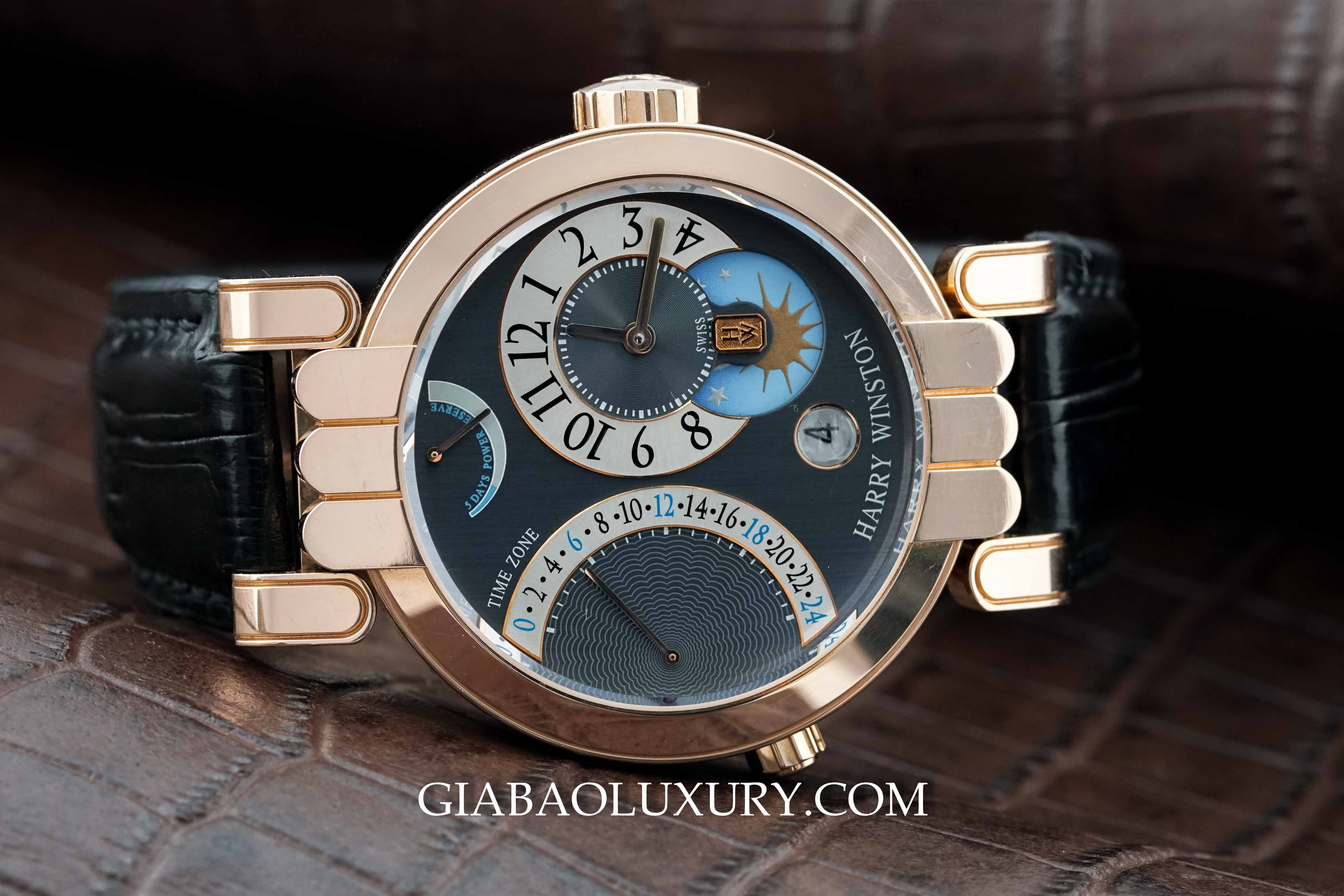 Review đồng hồ Harry Winston Premier Excenter Time Zone
