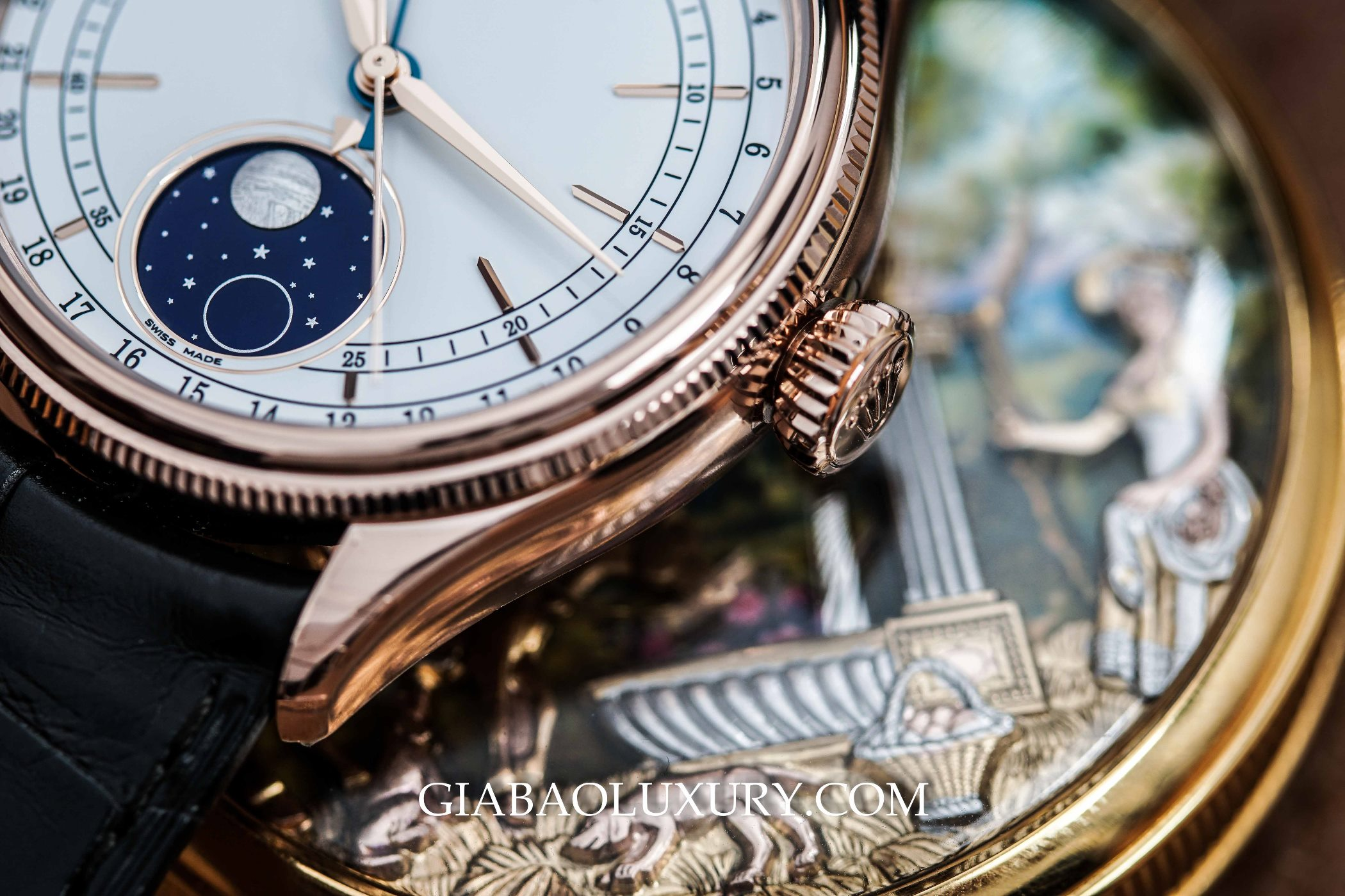Review đồng hồ Rolex Cellini Moonphase 50535
