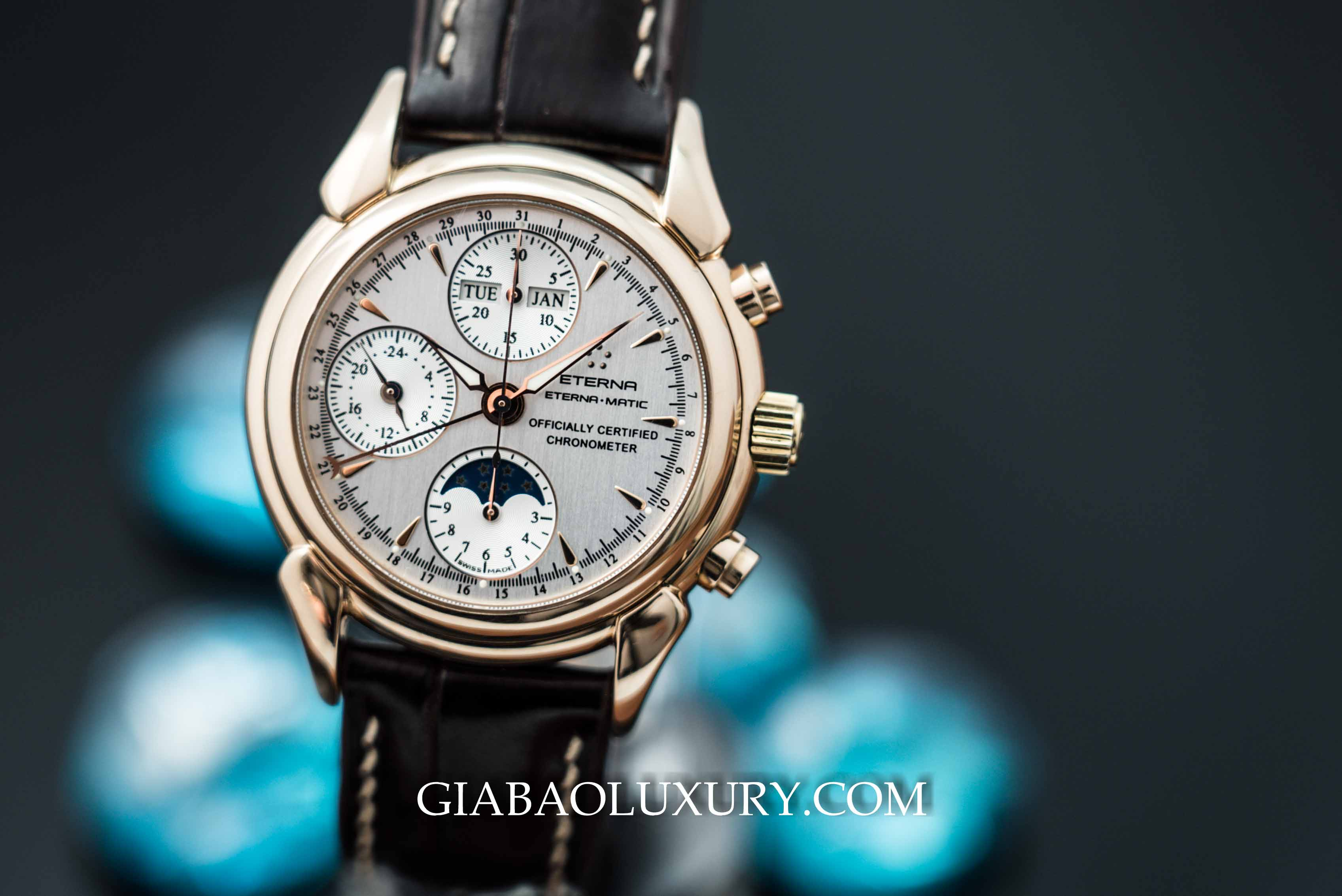 Review đồng hồ Eterna-Matic 1948 Moonphase Chronograph