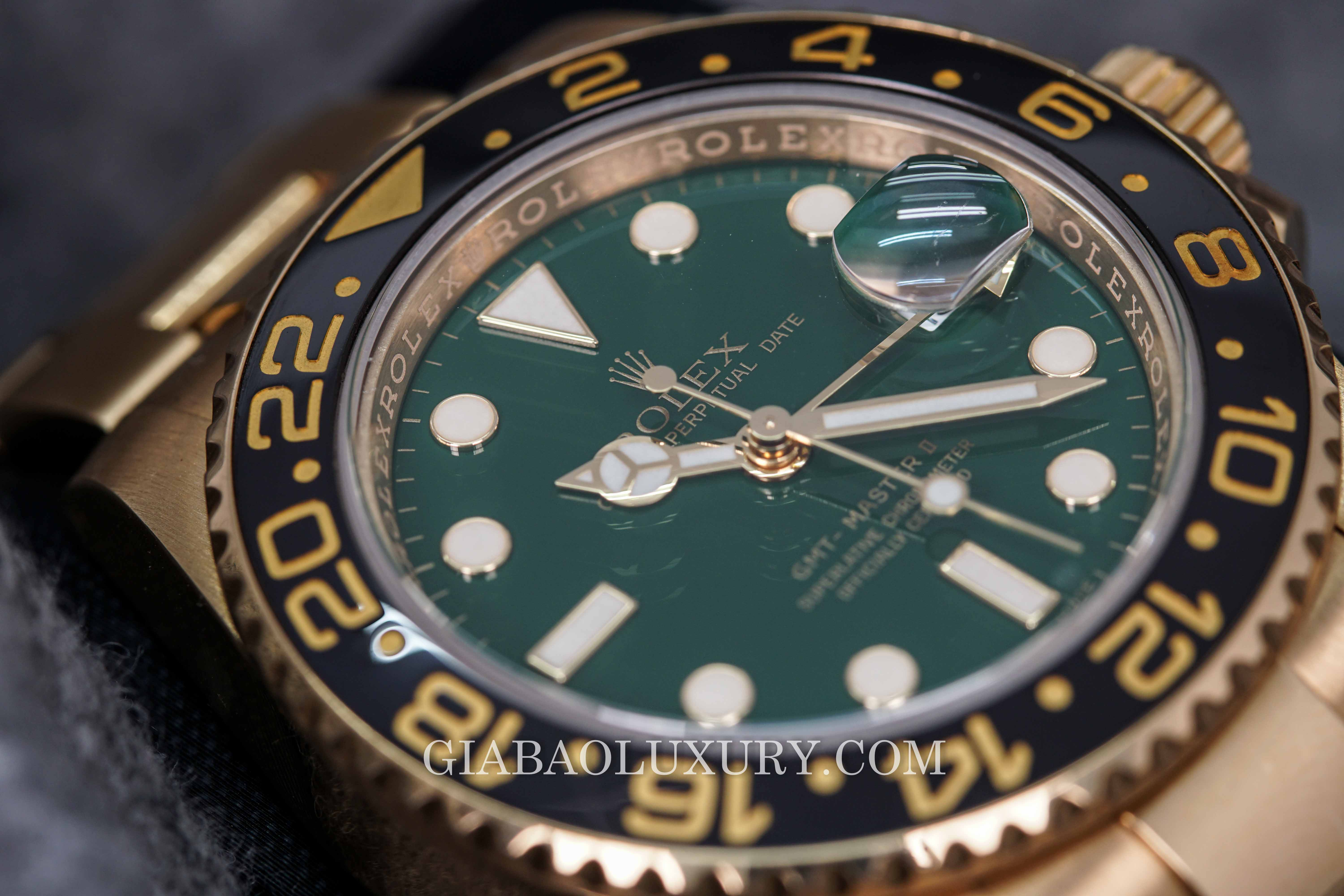 Review đồng hồ Rolex Date GMT-Master II 18k Yellow Gold & Ceramic