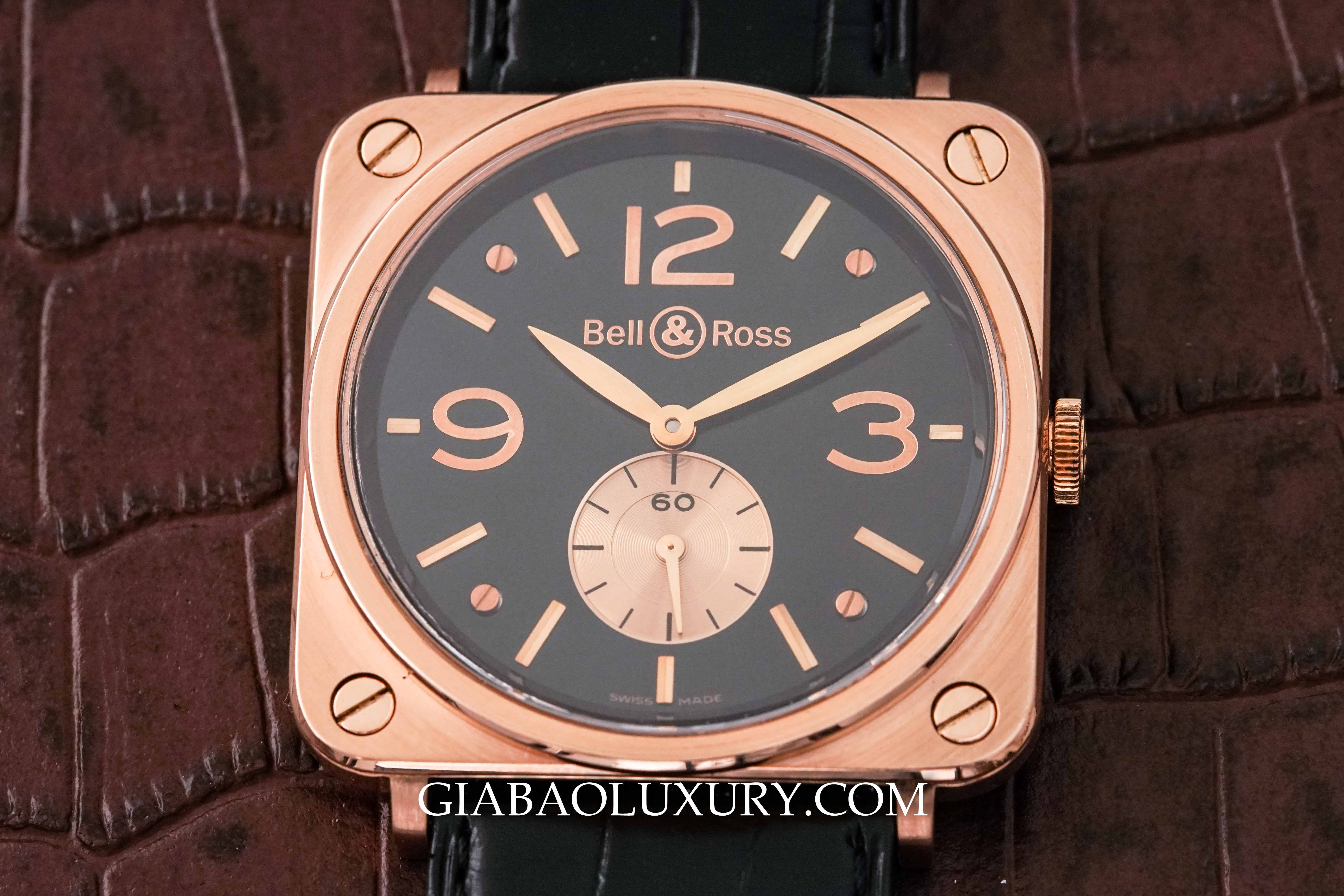 Review đồng hồ Bell & Ross BR-S Rose Gold Black Dial