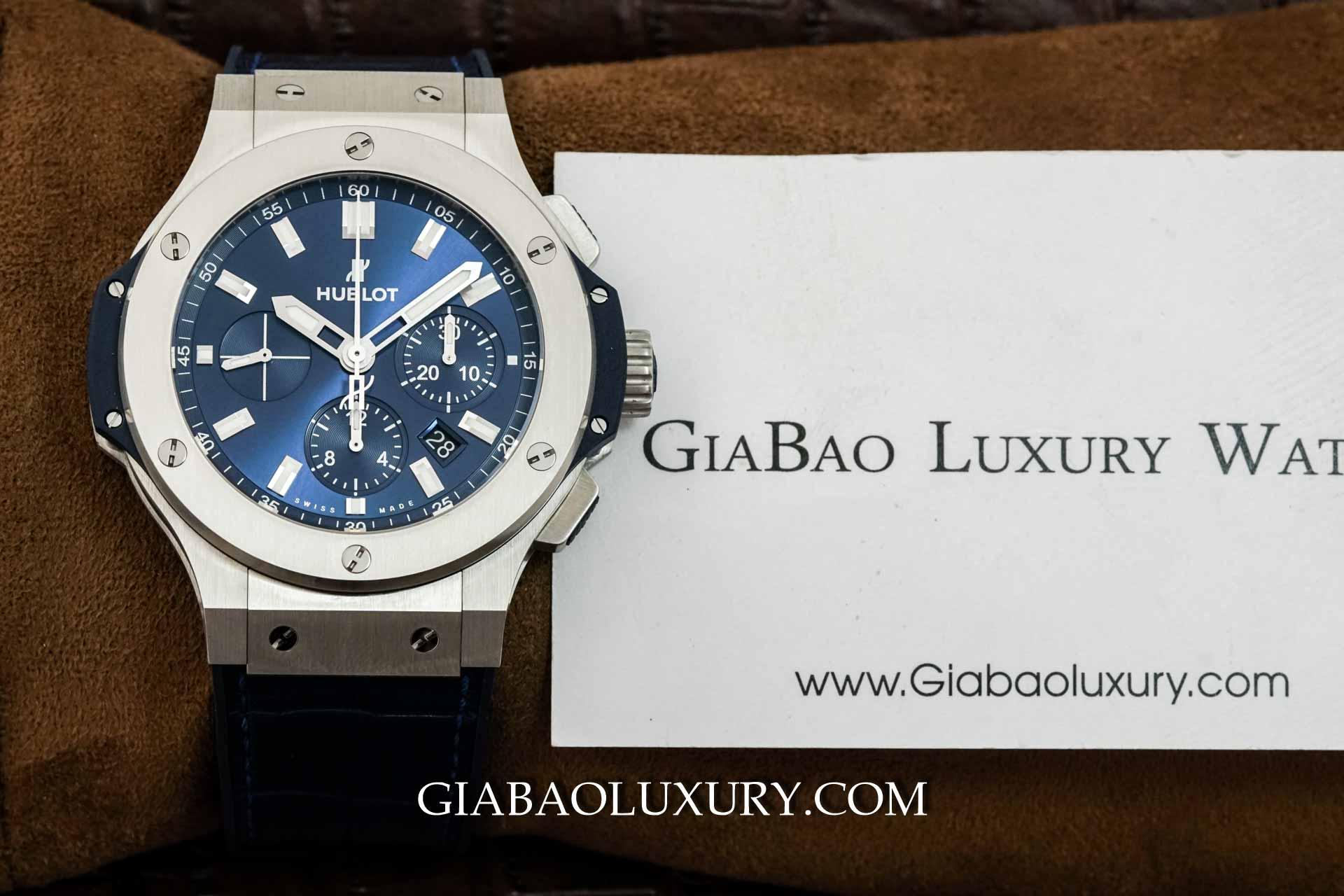 Review đồng hồ Hublot Big Bang Steel Blue Chronograph