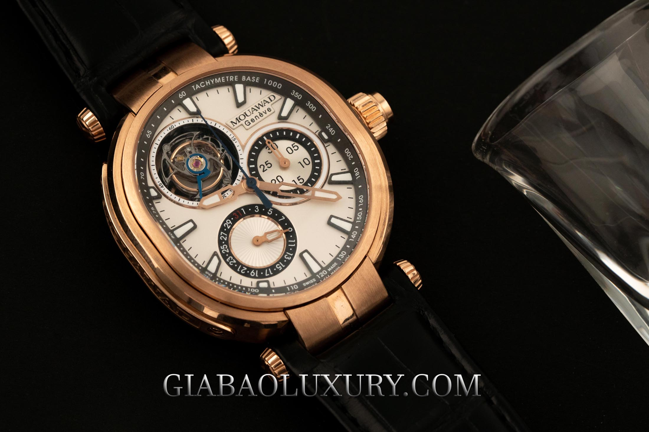 Review đồng hồ Mouawad Grande Ellipse Chrono Mono Poussoir Tourbillon