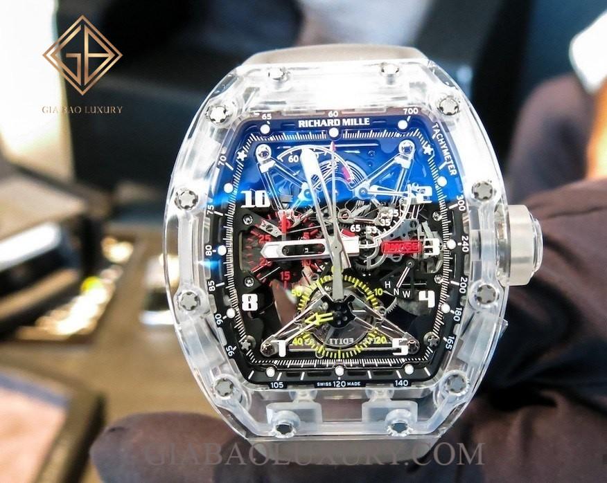 Review đồng hồ Richard Mille RM 056 Tourbillon Chronograph Sapphire