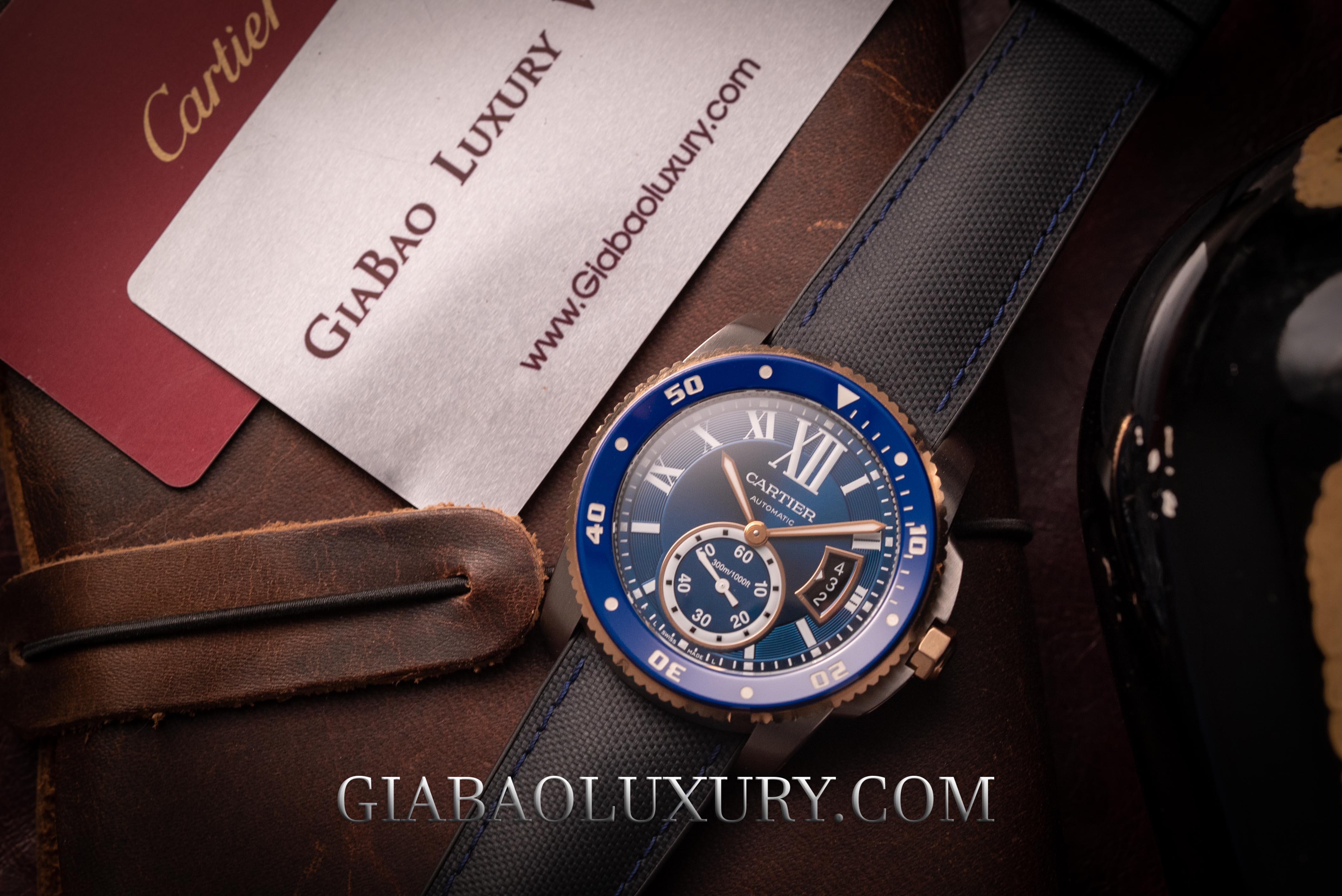 Review đồng hồ Cartier Calibre de Cartier Diver Blue