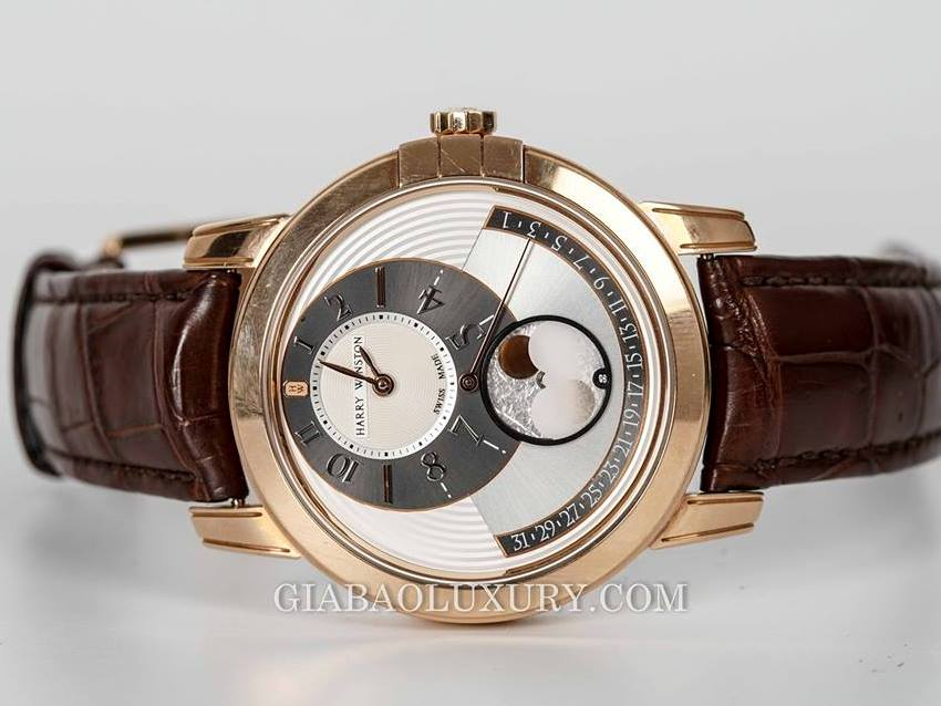 Đồng Hồ Harry Winston Midnight Moon Phase Automatic 42mm MIDAMP42RR001