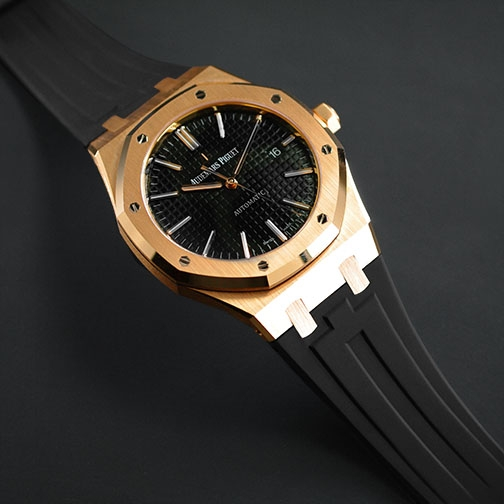 Dây cao su Rubber B cho đồng hồ Audemars Piguet Royal Oak 41mm phiên bản  dây da - Classic Series - Gia Bảo Luxury
