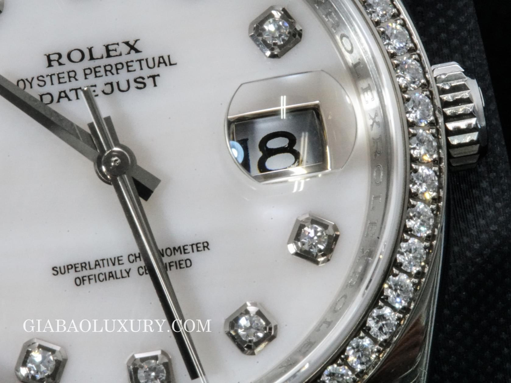 đồng hồ rolex oyster perpetual datejust 116244  mother of pearl