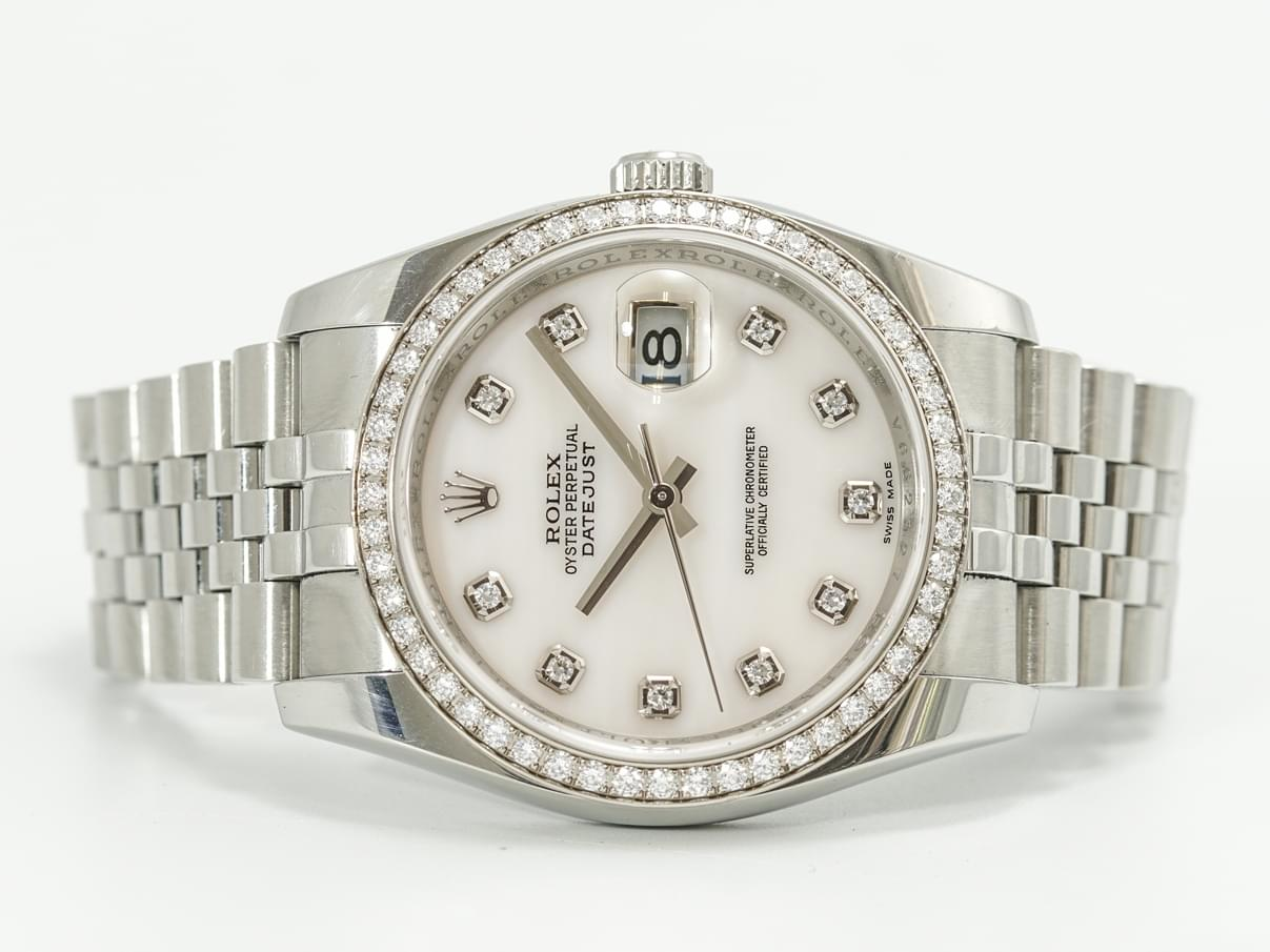 đồng hồ rolex oyster perpetual datejust 116244 blue dial mother of pearl