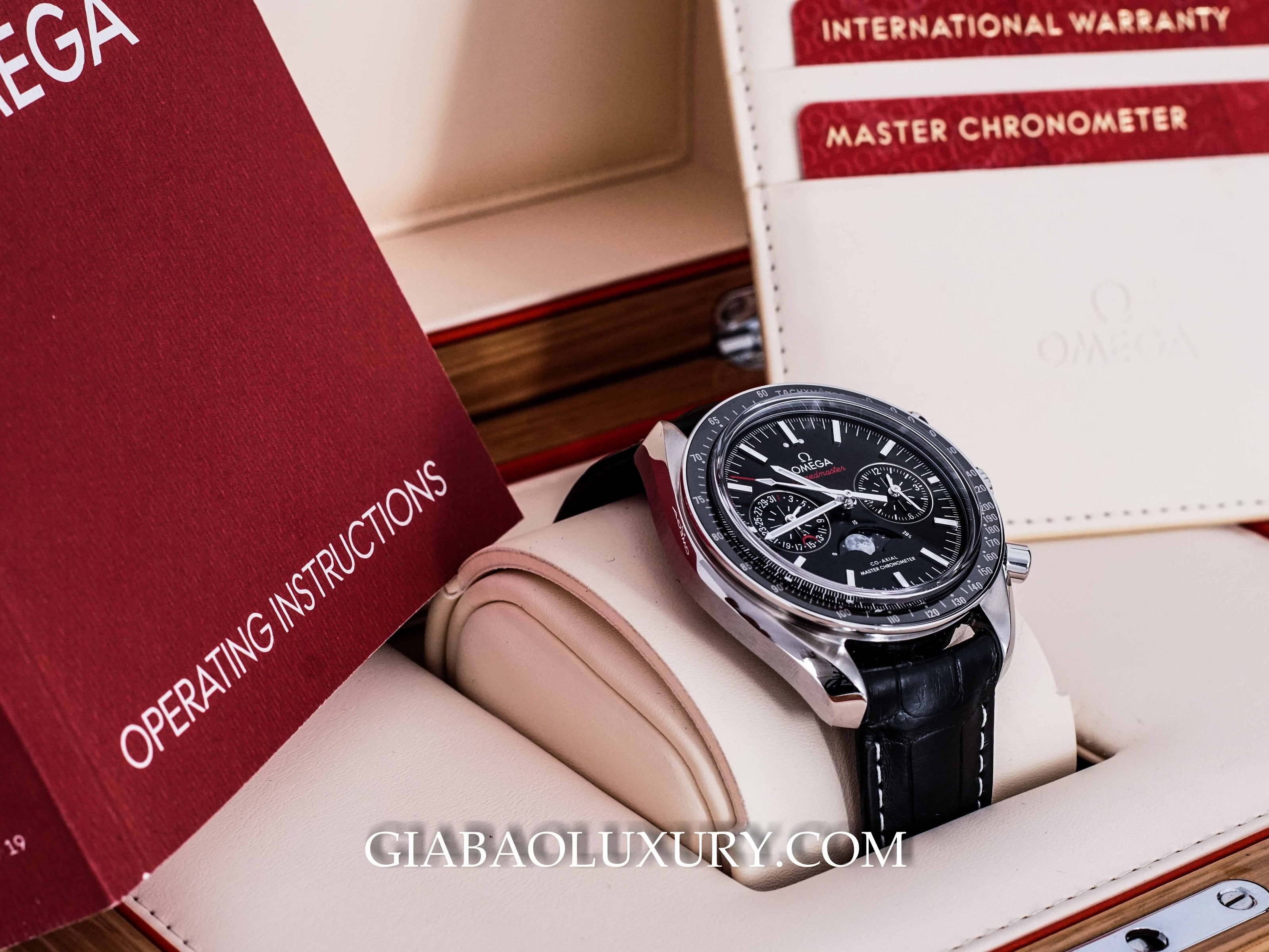 Đồng Hồ Omega Speedmaster Moonwatch Co-Axial Master Chronometer Moonphase Chronograph 44.25mm 304.33.44.52.01.001