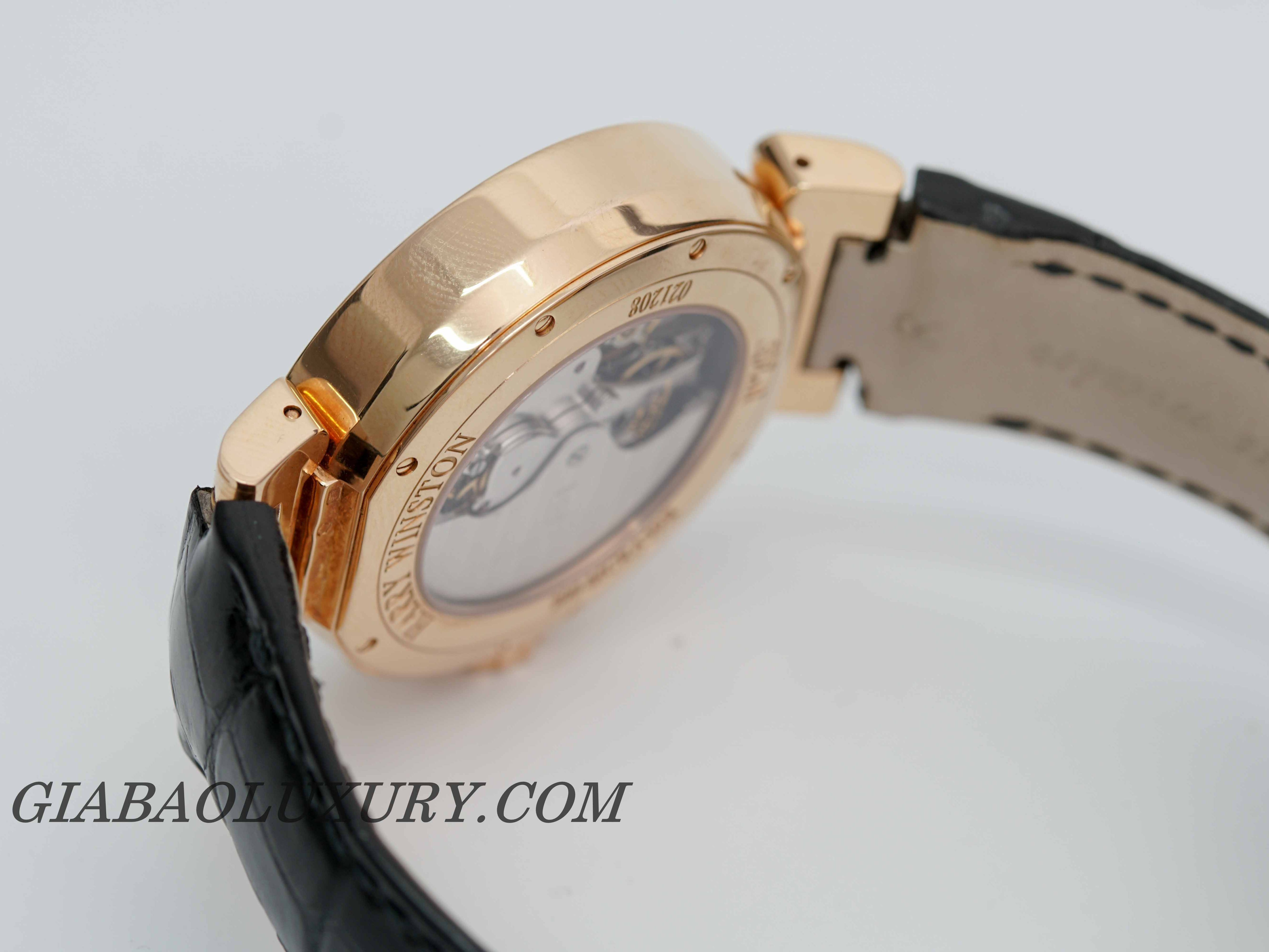 Đồng Hồ Harry Winston Excenter 18k Rose Gold Retrograde Chronograph
