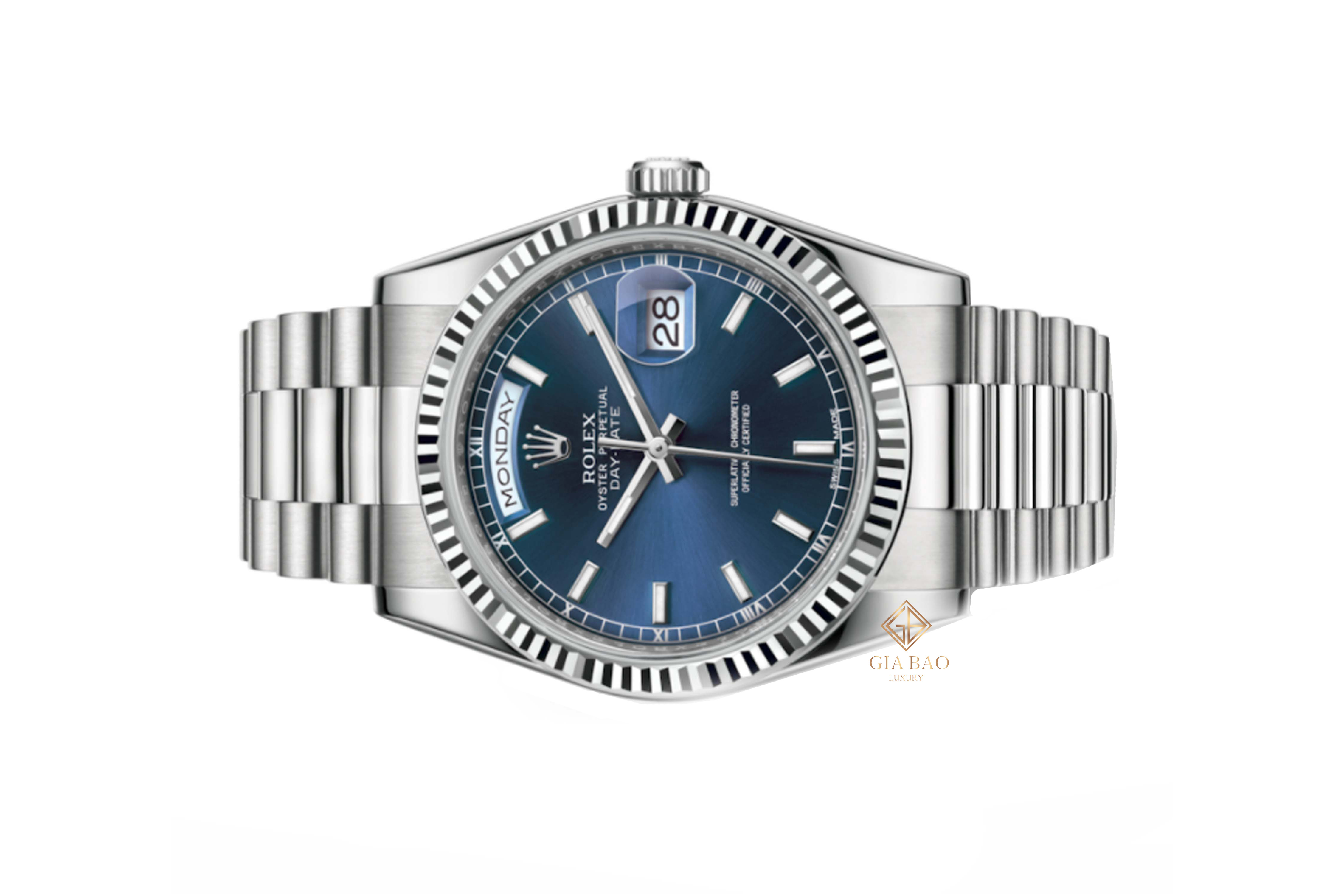 Đồng Hồ Rolex Day Date 36 118239 Mặt Số Xanh