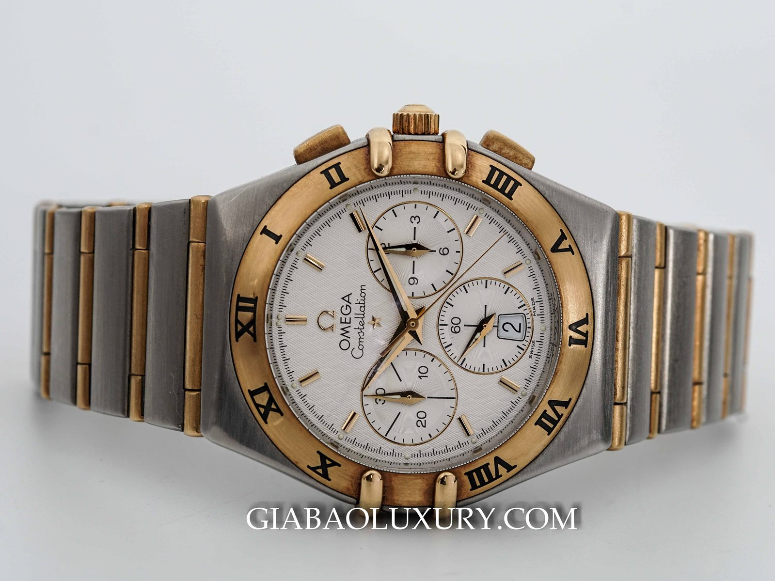 ĐỒNG HỒ OMEGA CONSTELLATION CHRONOGRAPH YELLOW GOLD AND STAINLESS STEEL