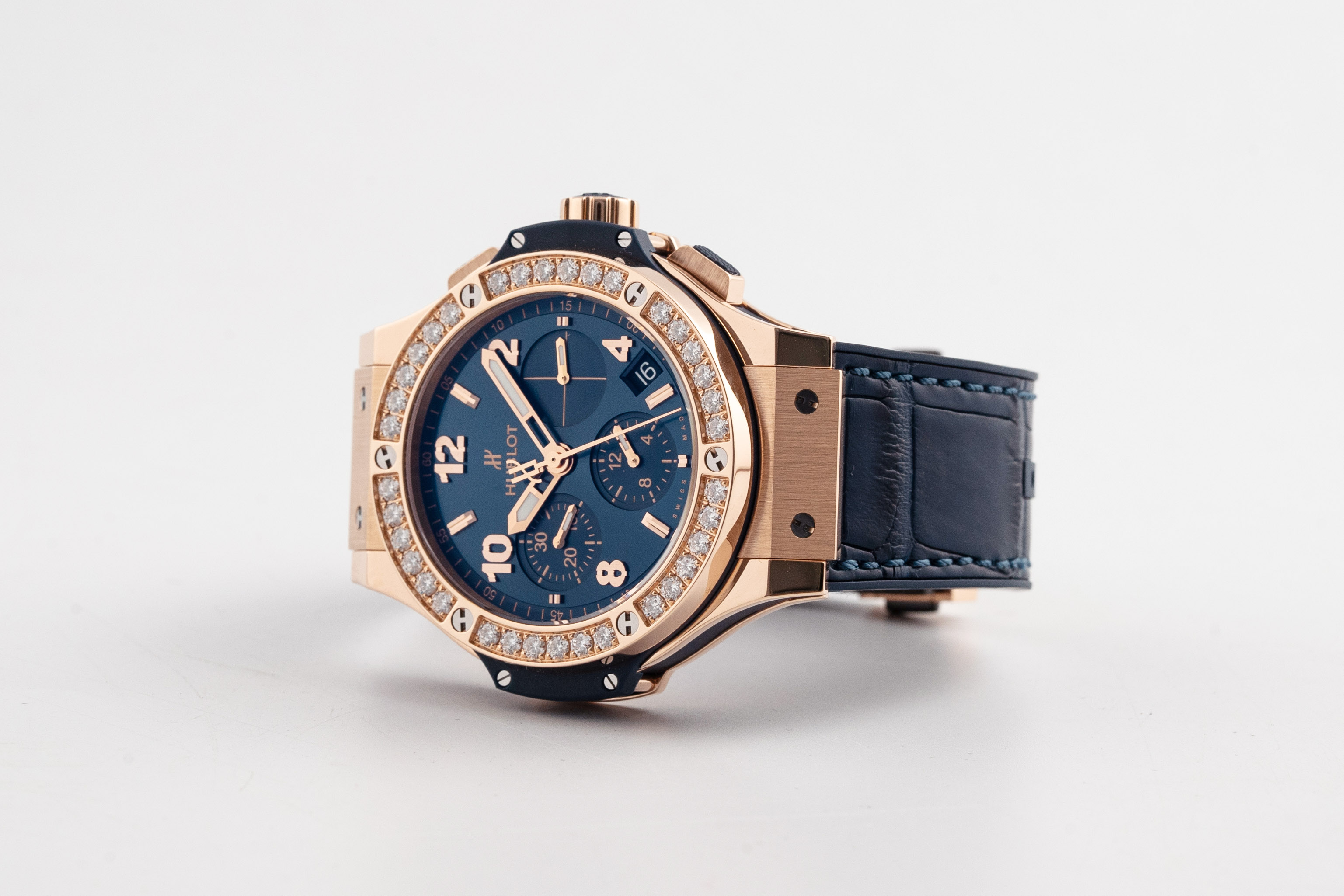 Đồng Hồ Hublot Big Bang Gold Blue Diamonds 41mm 341.PX.7180.LR.1204
