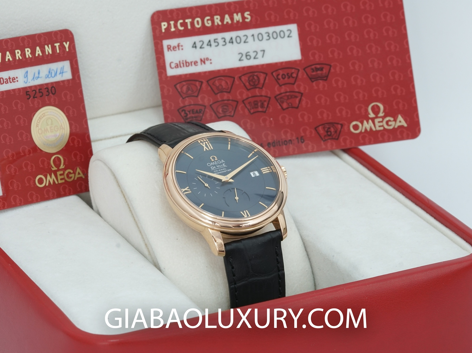 Đồng Hồ Omega De Ville Prestige Co-Axial Power Reserve 39.5mm 424.53.40.21.03.002