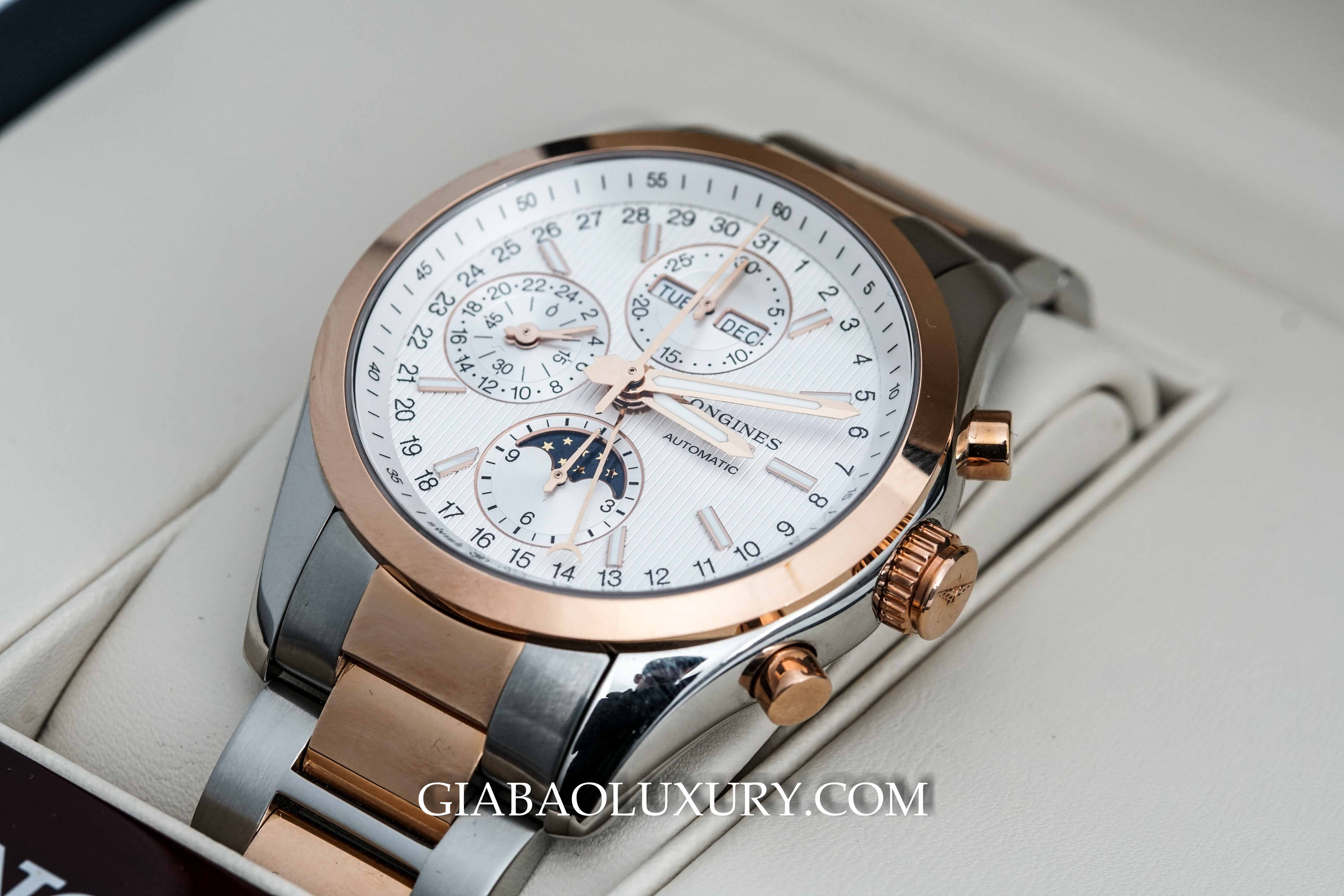 Đồng Hồ Longines Conquest Chronograph MoonPhase L2.798.5.72.7