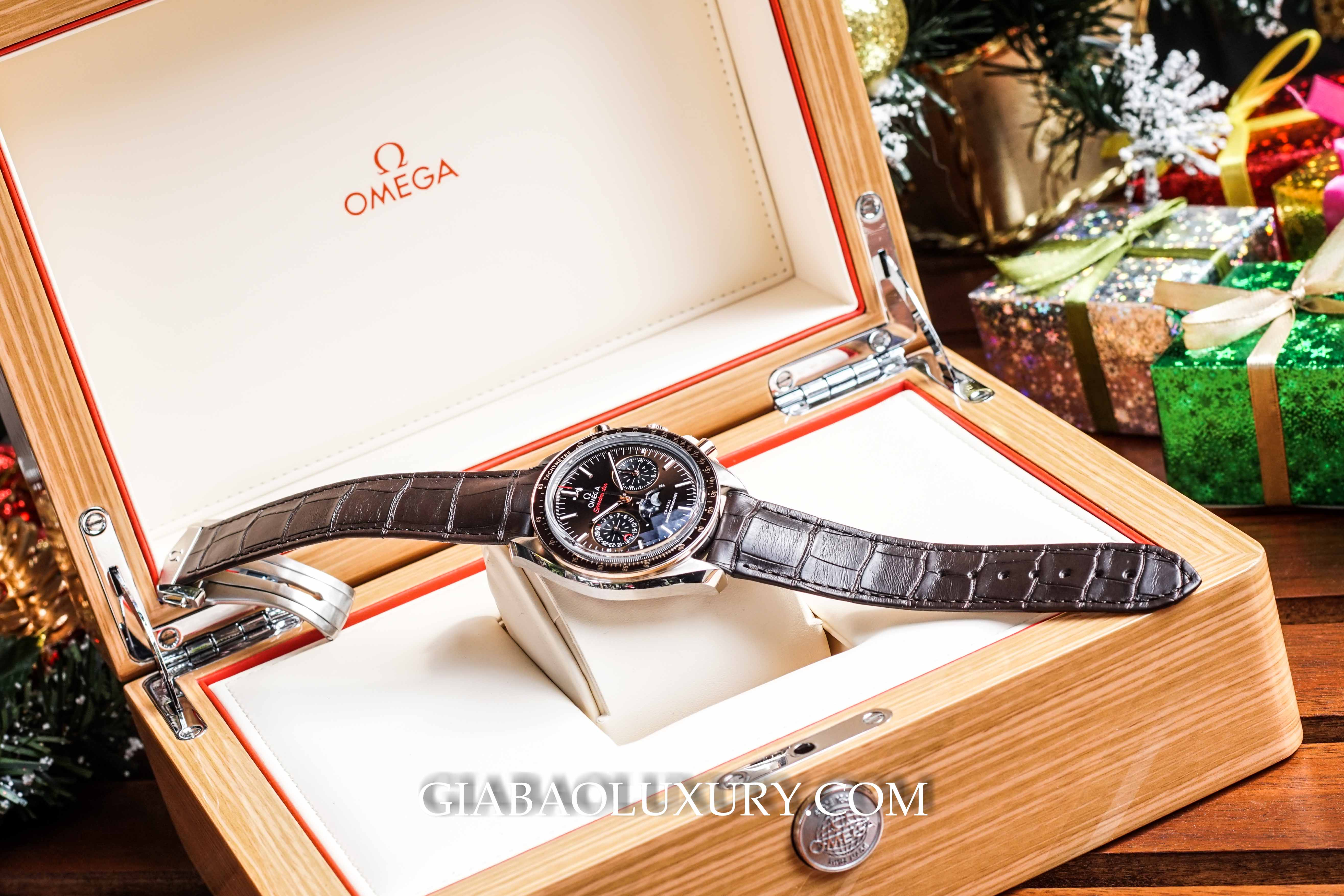 Đồng Hồ Omega Speedmaster Moonwatch Moonphase 44.25mm 304.23.44.52.13.001