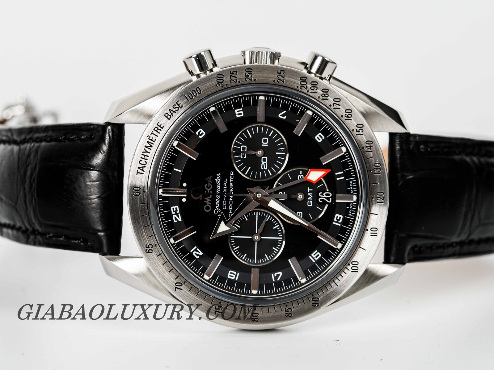 Đồng Hồ Omega Speedmaster Broad Arrow Co-Axial GMT Chronograph 44.25mm 3881.50.37