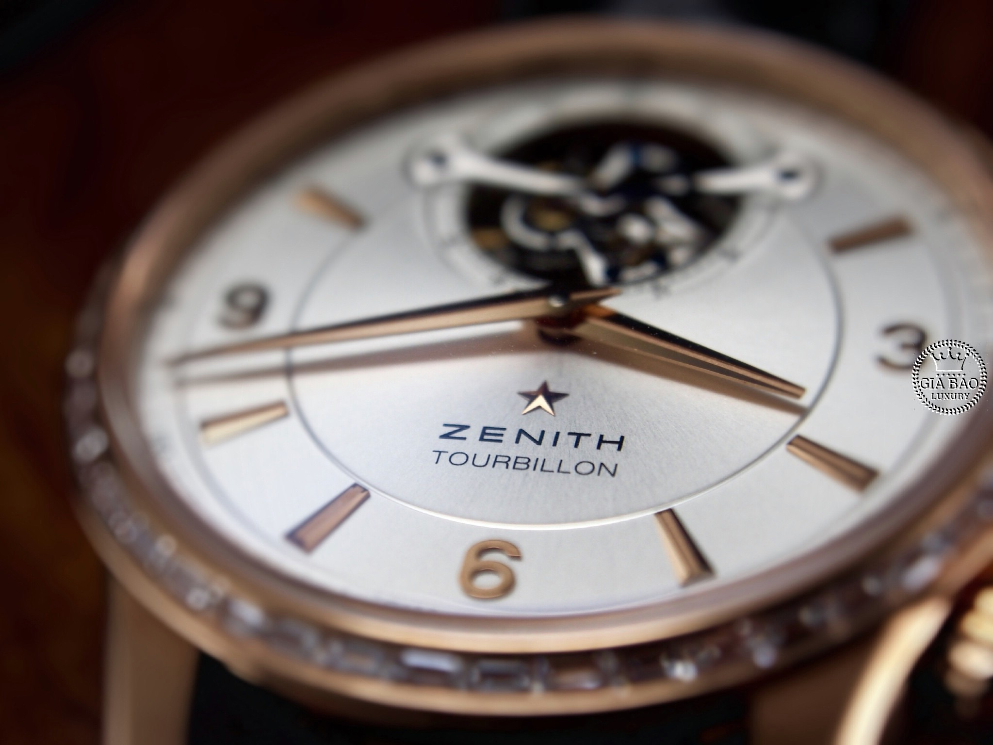 Đồng Hồ Zenith El Primero Tourbillon Rose Gold 18k With Diamond