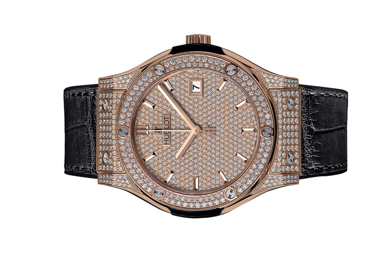 Đồng Hồ Hublot Classic Fusion King Gold Full Pave 42mm 542.ox.9010.lr.1704