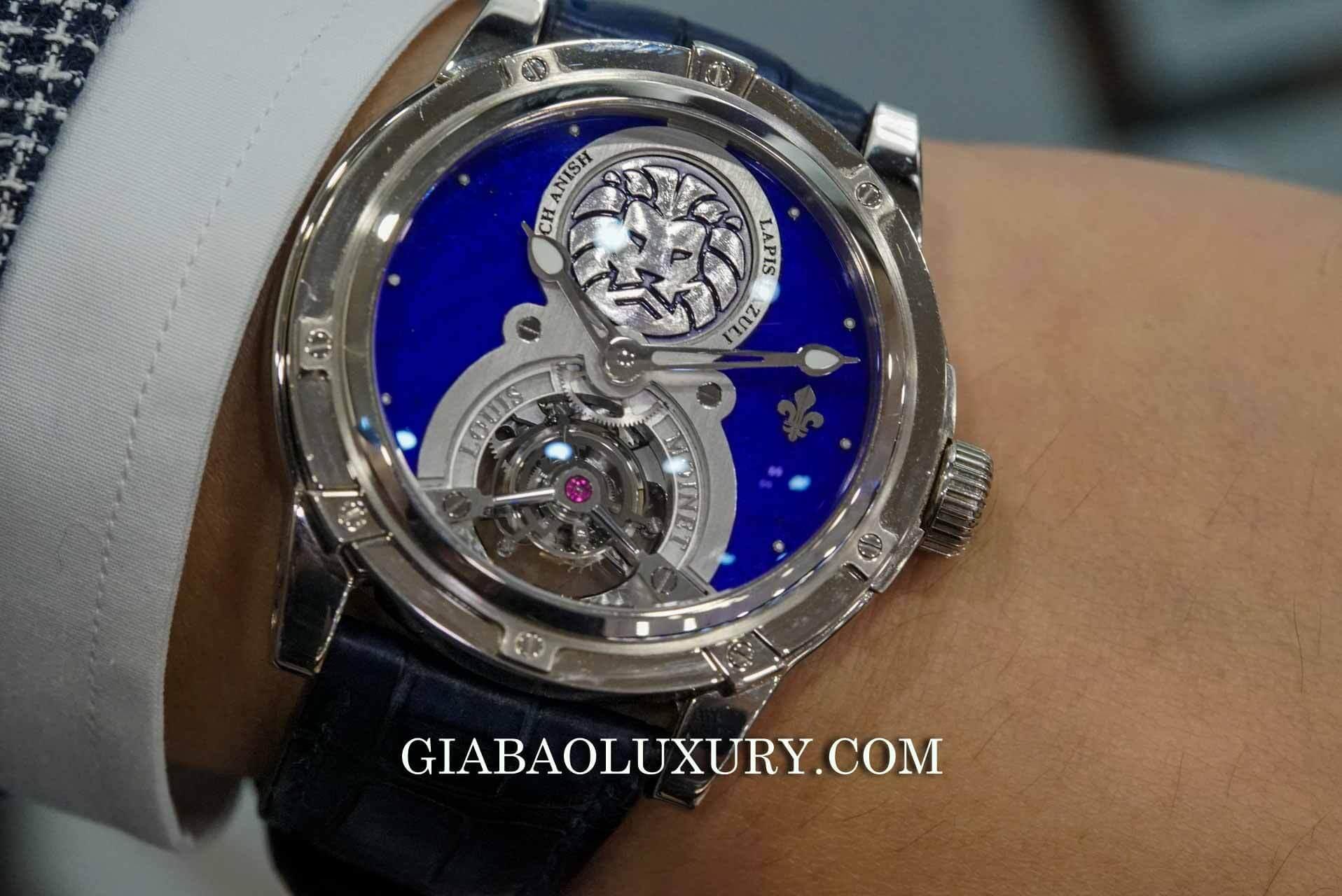Đồng Hồ Louis Moinet Lapis Lazuli Tourbillon Watch Anish