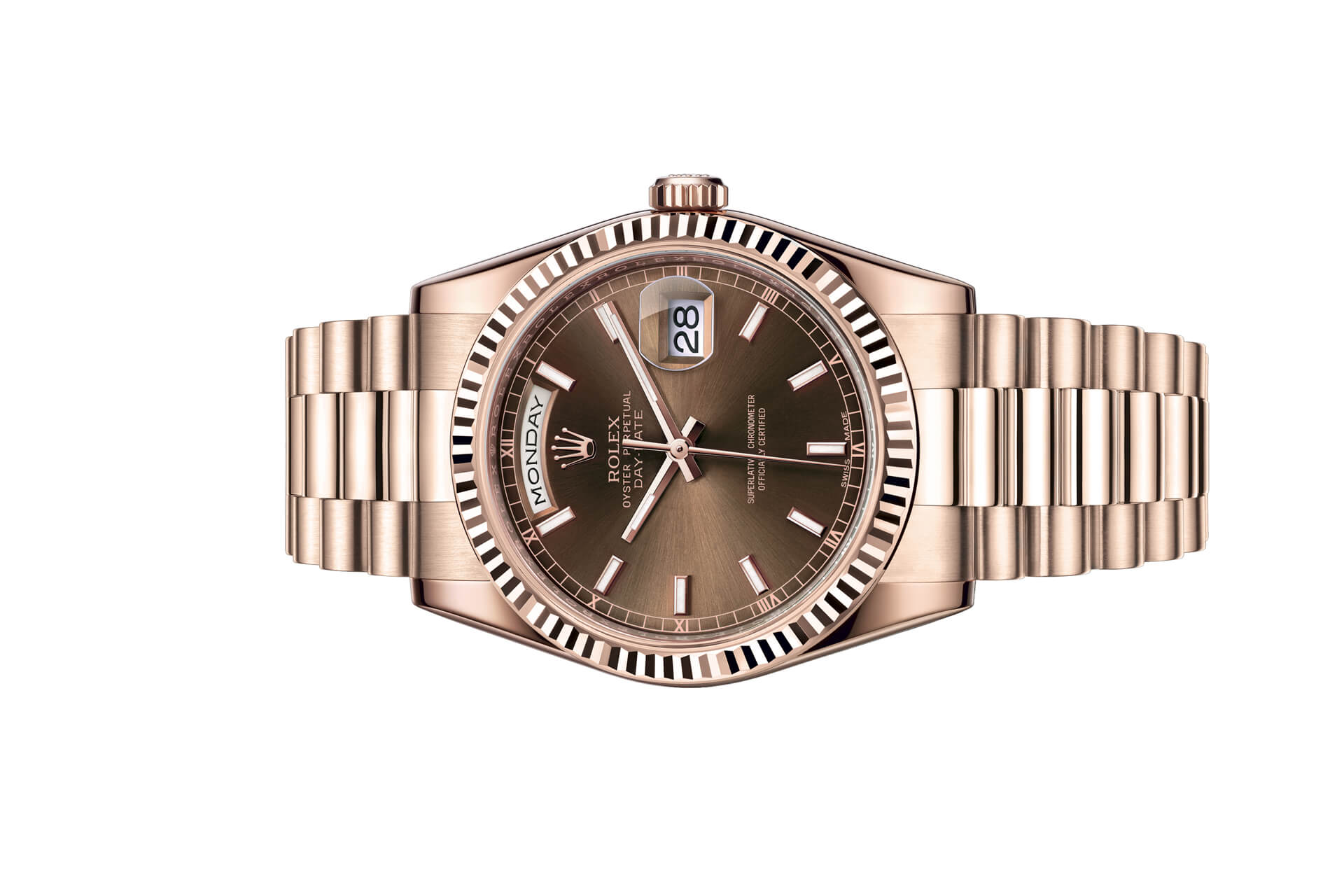 Đồng Hồ Rolex Day-Date 36 118235 Mặt Số Chocolate
