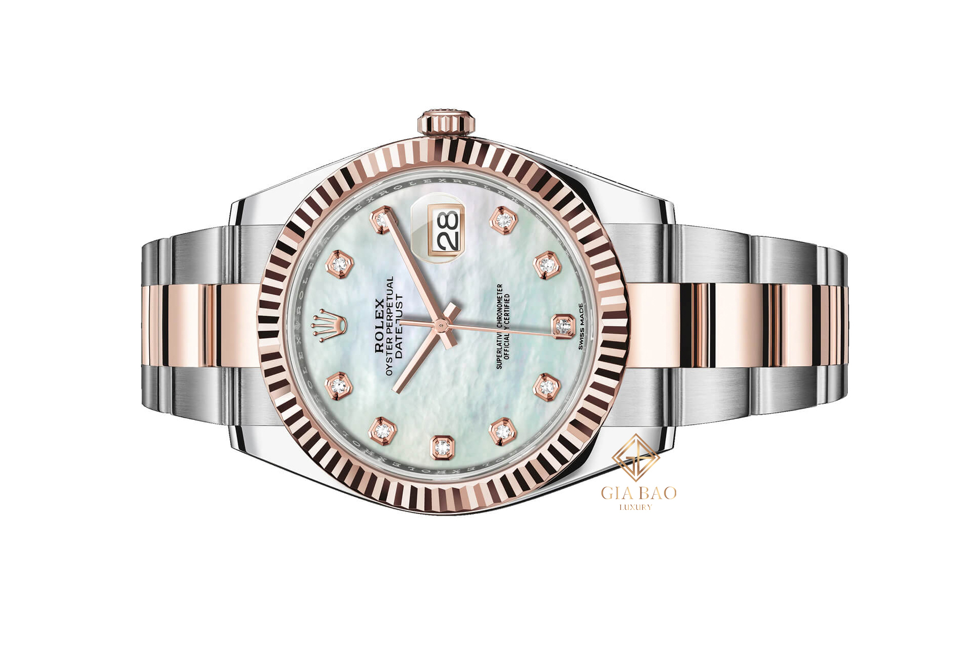 Đồng Hồ Rolex Datejust 41 126331 Mặt Số Vỏ Trai Trắng Dây Đeo Oyster