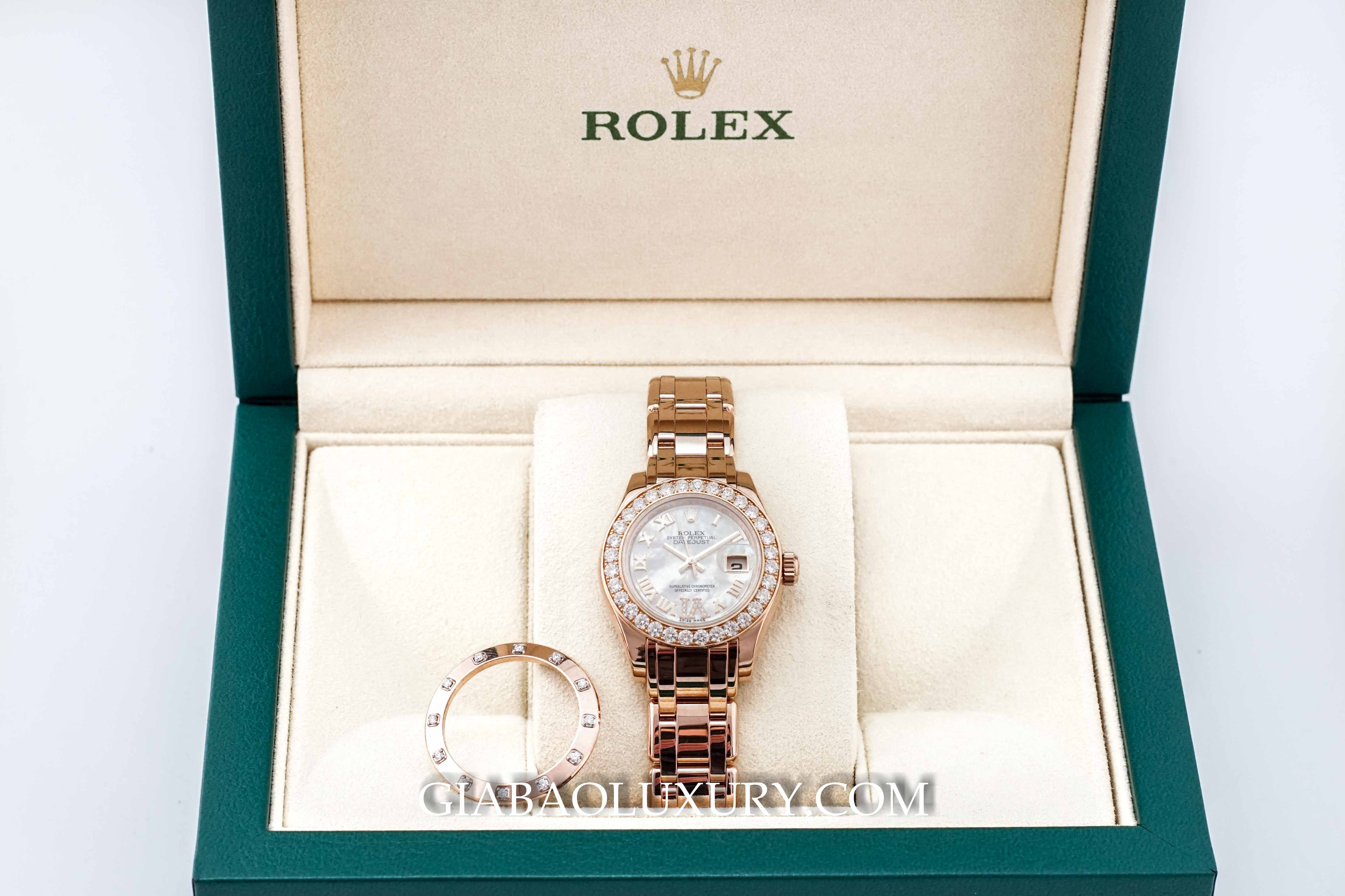 Rolex Datejust Lady Pearlmaster 29 mm Everose Gold 80315
