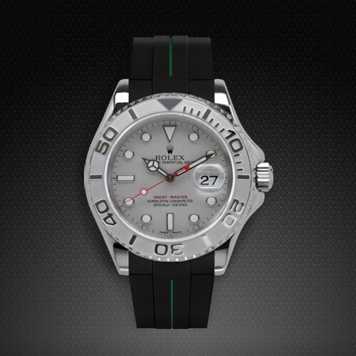 Dây cao su Rubber B đồng hồ Rolex Yachtmaster 40mm - Classic Series VulChromatic®
