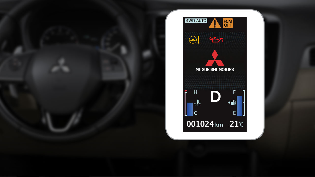 Màn hình thống tin của xe Mitsubishi Outlander 2.0 STD 2018