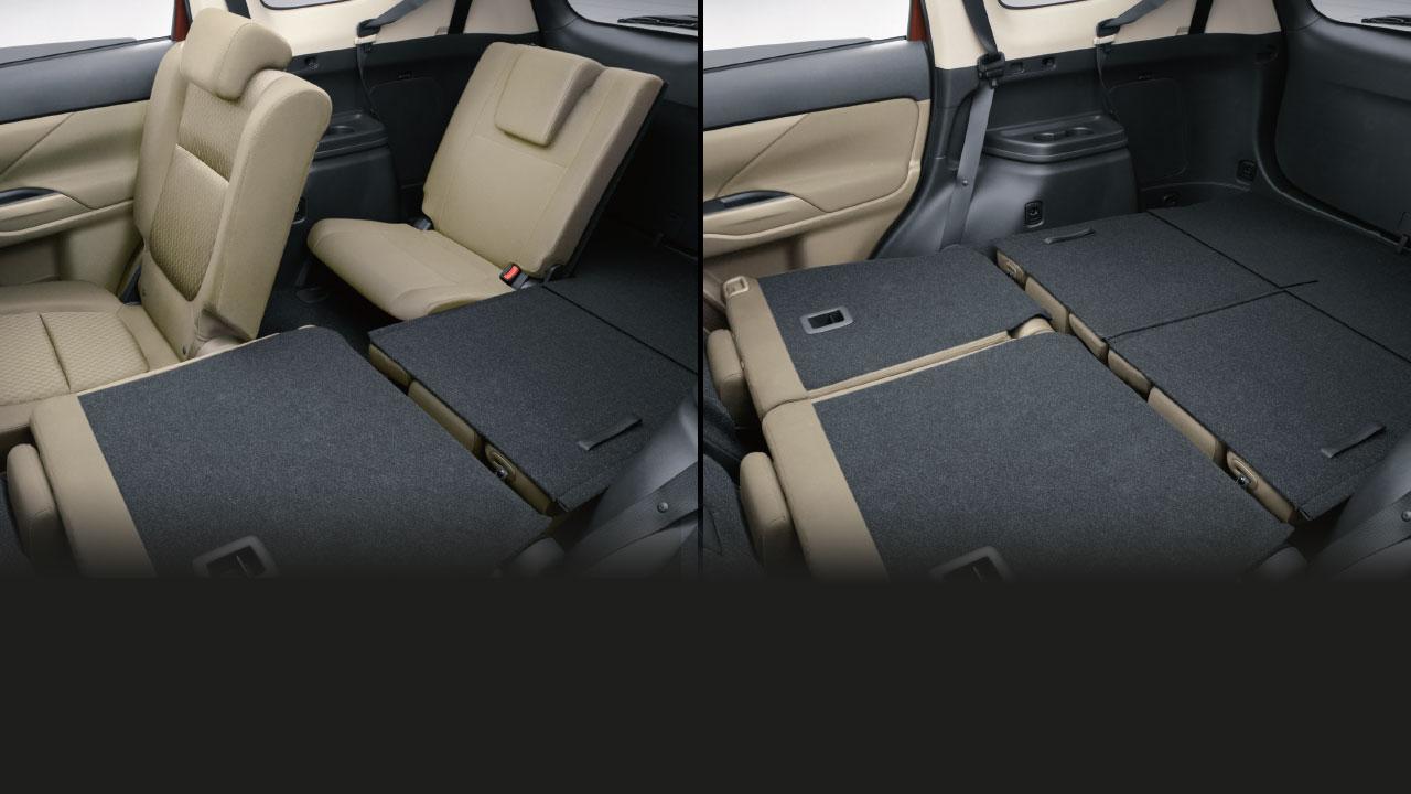 Khả năng gập ghế linh hoạt trên xe Mitsubishi Outlander 2.0 STD 2018