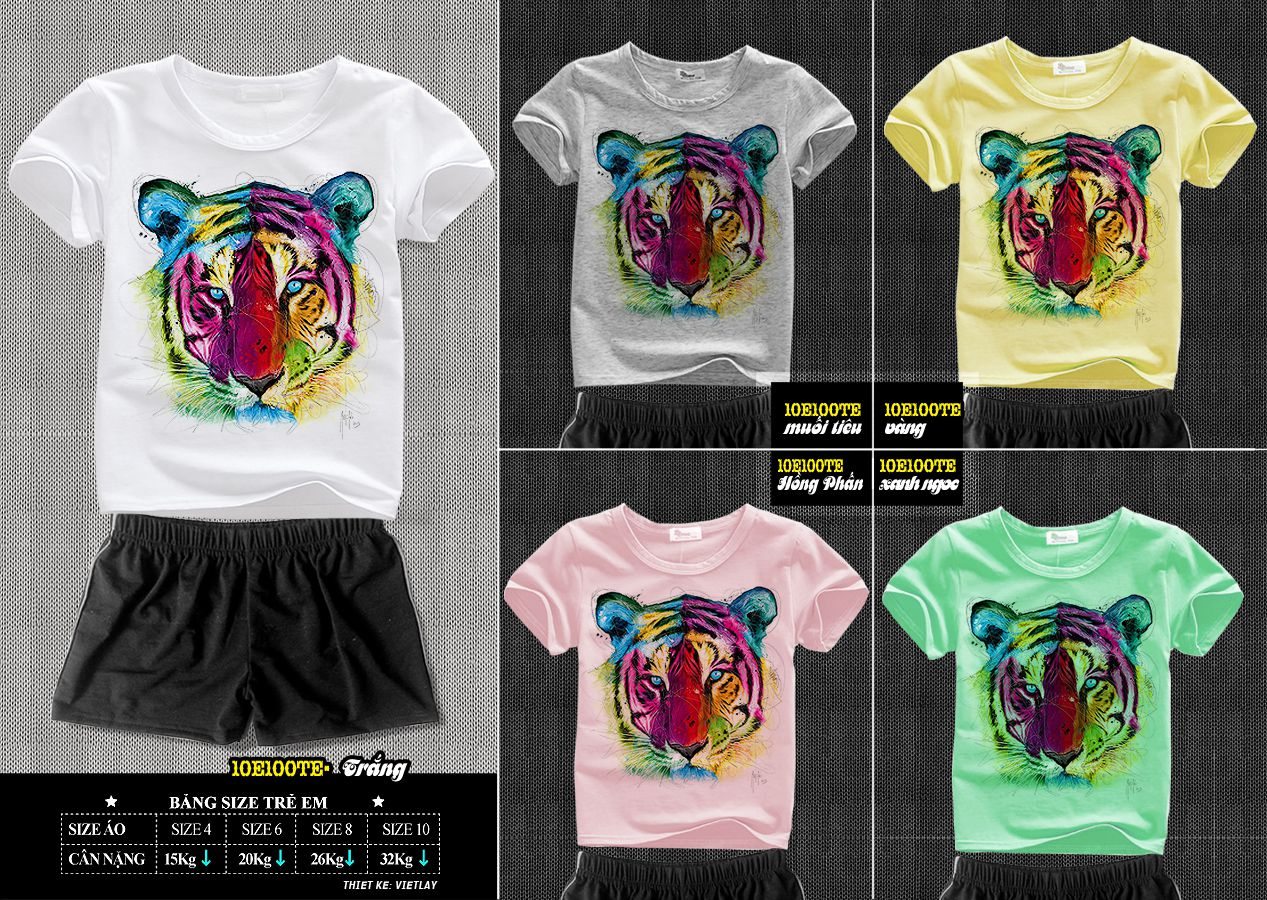 10E100TE Hổ Nhiều Màu