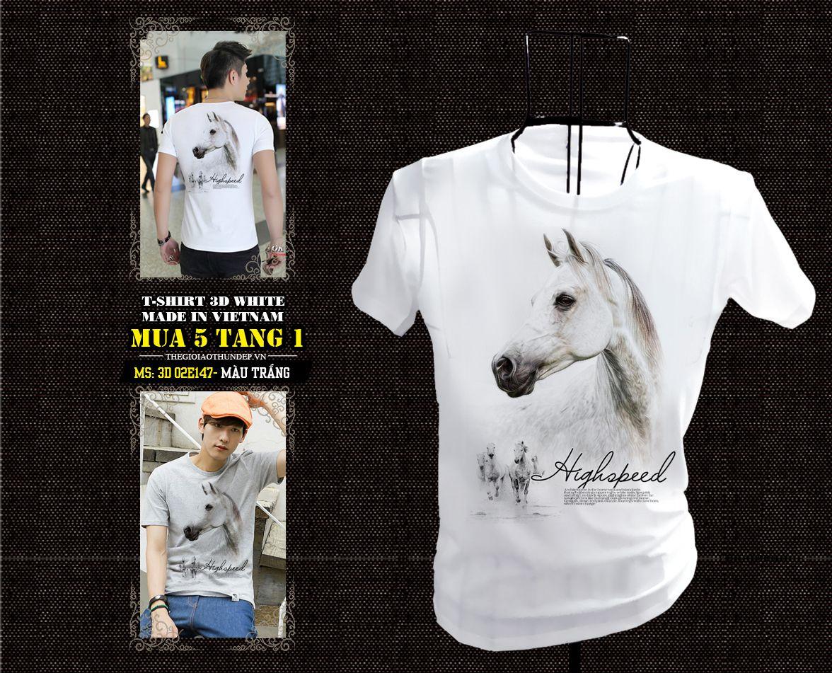 3D 02e147 Ngựa trắng