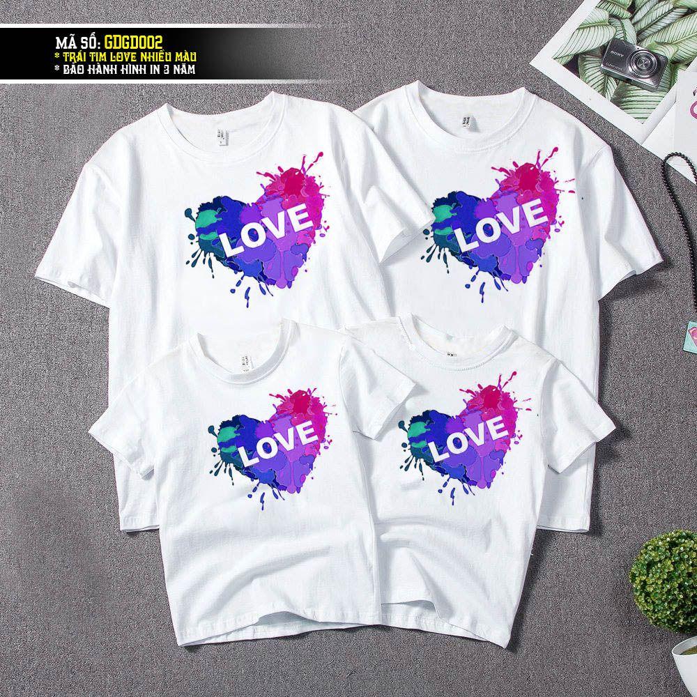 GD0002 TRÁI TIM LOVE NHIỀU MÀU