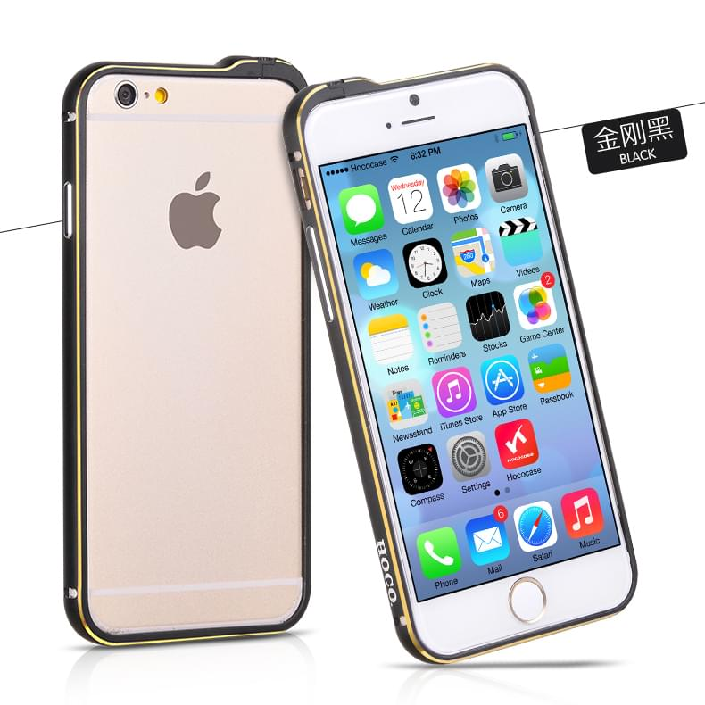 Viền iPhone 6 Hoco Blade Series Pc Đen