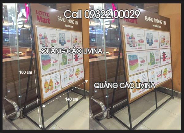 Biển thông tin siêu thị  Lotte01