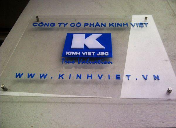 Biển logo chữ nổi Kinh Việt