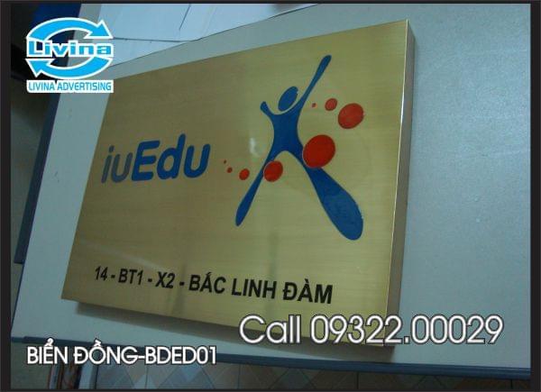 Biển công ty bằng đồng-Mẫu BDED01