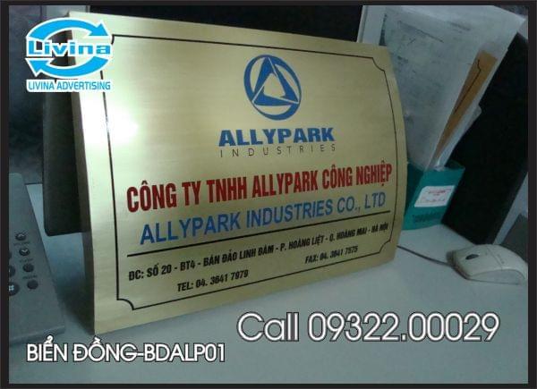 Biển công ty bằng đồng-BDALP01