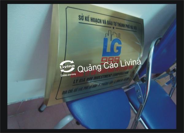 Mẫu biển công ty LG