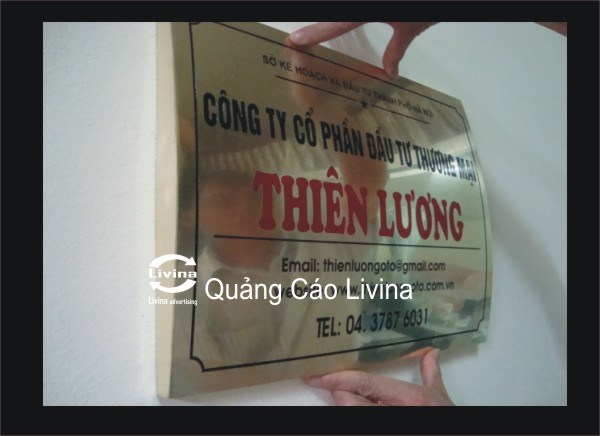 Biển đồng mẫu công ty Thiên Hương