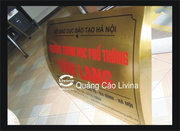 Biển công ty Mẫu trường Văn Lang