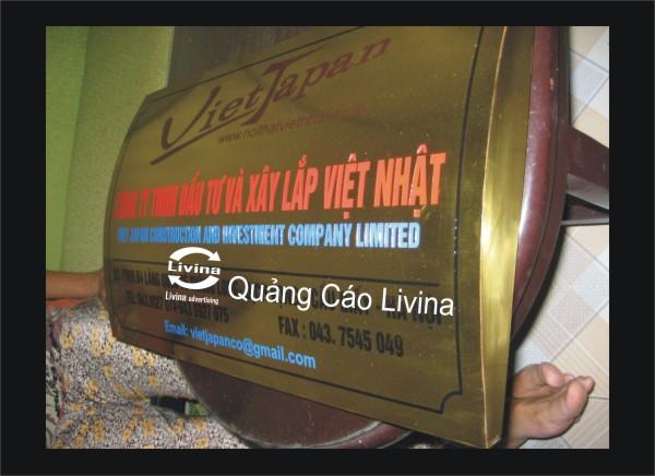 Biển công ty bằng đồng mẫu Việt Nhật