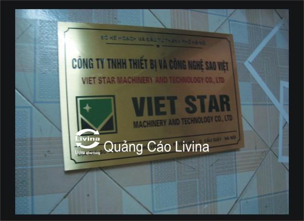 Biển công ty Việt Star
