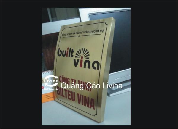Biển đồng công ty Built Vina