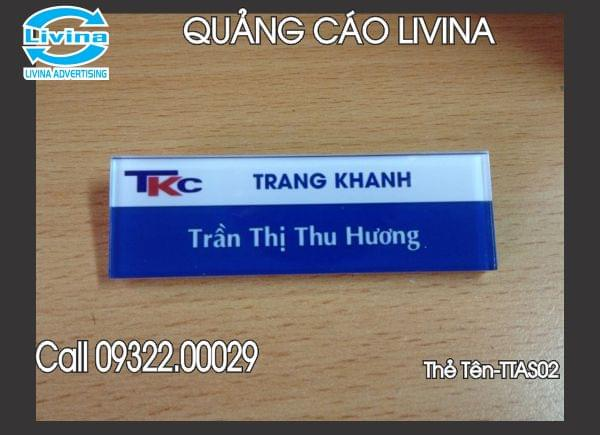 Thẻ tên nhân viên -TTAS02