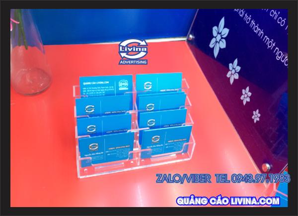 Kệ Card visit CARD5-DB1- 2 Tầng đứng -ngăn đôi - 8 ô sử dụng