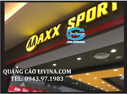 Biển chữ nổi Maxx sport có led